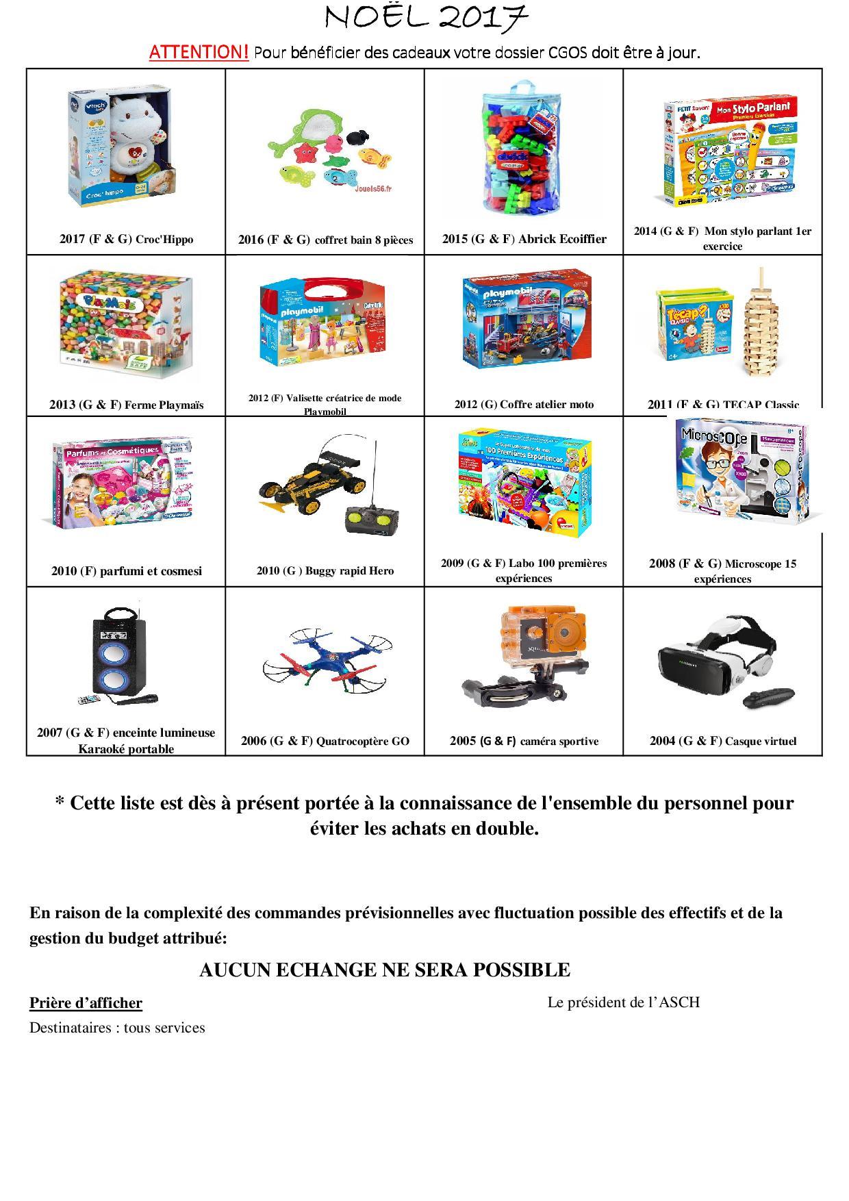 PLAQUETTES JOUETS NOËL 2017 – Amicale CHU de Dijon